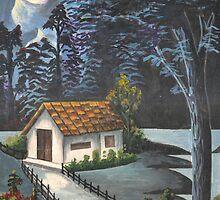 Old Village @ Night by pranavan