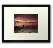 Ulmarra Sunset Framed Print