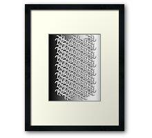 B&W pattern II Framed Print