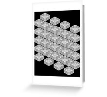 B&W pattern III Greeting Card