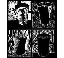 Seasons of Coffee - woodcut Photographic Print