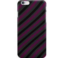 Stripes - magenta, grey and black pattern iPhone Case/Skin