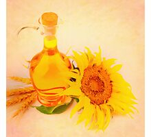 sunflower oil Photographic Print