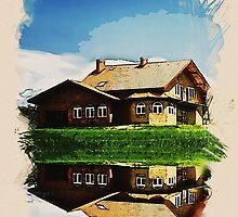 summer cottage by the lake2 by Adam Asar