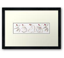 sufi lines Framed Print