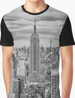 Winter Storm over Midtown Graphic T-Shirt