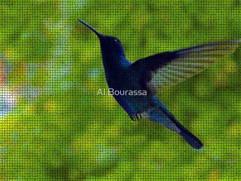 Hummingbird Mosaic by Al Bourassa