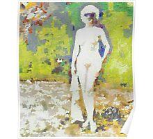 Nude in Sunglasses ~ Diane Arbus Impression Poster