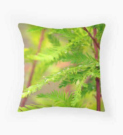 Green Cypress  Throw Pillow