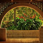 Tropical Garden Arch by Kathy Baccari