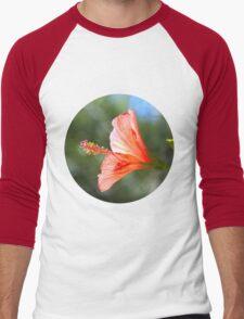 Red Hibiscus Men's Baseball ¾ T-Shirt