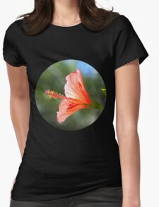 Red Hibiscus Womens Fitted T-Shirt