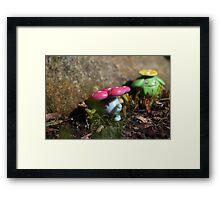 Vileplume and Skiploom Framed Print