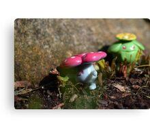 Pokemon Snap: Vileplume and Skiploom Canvas Print