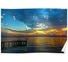 Dock at Sunset Poster