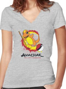 Avachar- The last Firebender Women's Fitted V-Neck T-Shirt