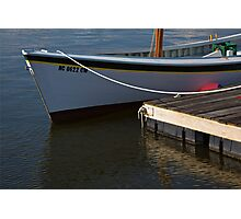 Skiff at Dock Photographic Print