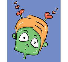 confused love alien cartoon Photographic Print