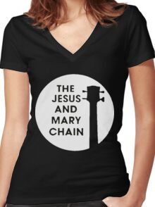 The Jesus and Mary Chain Women's Fitted V-Neck T-Shirt
