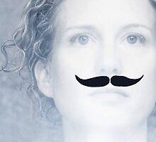 Jen grows a mo for Movember by Redbubble Community  Team