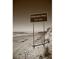 Route 66 - Sitgreaves Pass Photographic Print