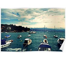 floating boats Poster