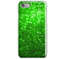 Green Glitter Pattern Texture iPhone Case/Skin