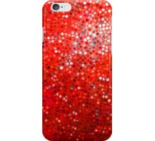 Red Glitter Pattern Texture iPhone Case/Skin