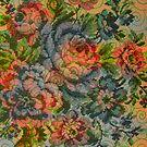Pastel Tones Vintage Roses Pattern by artonwear