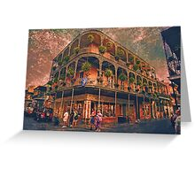 Saint Philip and Royal streets in French Quarter New Orleans Greeting Card