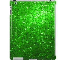 Green Glitter Pattern Texture iPad Case/Skin