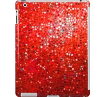 Red Glitter Pattern Texture iPad Case/Skin