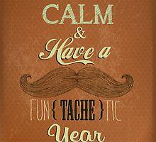 Vintage Happy New Year Calligraphic And Typographic Background by csecsi