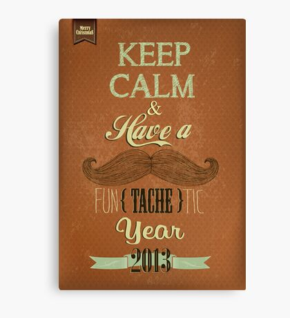 Vintage Happy New Year Calligraphic And Typographic Background Canvas Print