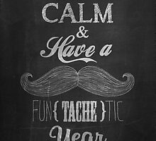 Vintage Happy New Year Calligraphic And Typographic Background With Chalk Word Art On Blackboard by csecsi