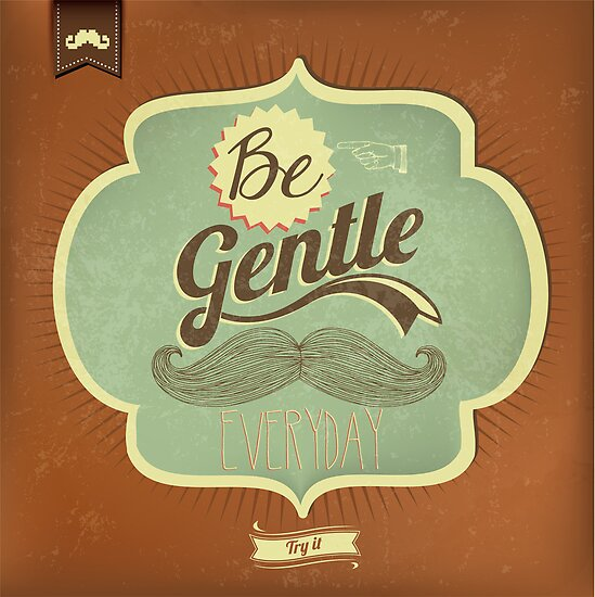 Vintage Mustache Calligraphic And Typographic Background by csecsi