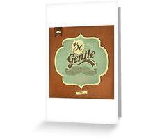 Vintage Mustache Calligraphic And Typographic Background Greeting Card