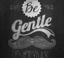 Vintage Mustache Calligraphic And Typographic Background With Chalk Word Art On Blackboard by csecsi