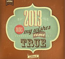 Vintage Merry Christmas And Happy New Year Calligraphic And Typographic Background by csecsi