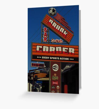 Drunk Corner Bar, Kalamaki, Zante Greeting Card