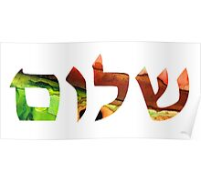 Shalom 17 - Jewish Hebrew Peace Letters Poster