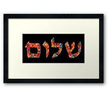 Shalom 13 - Jewish Hebrew Peace Letters Framed Print