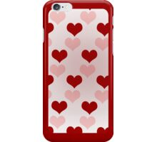 Red and pink hearts on pink  iPhone Case/Skin