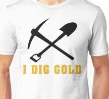 Rockhound I Dig Gold Unisex T-Shirt