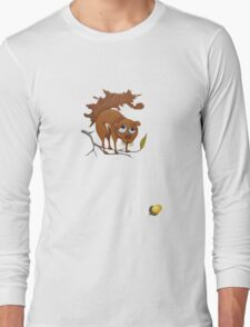 Pitiful Squirrel (cut out with acorn) Long Sleeve T-Shirt
