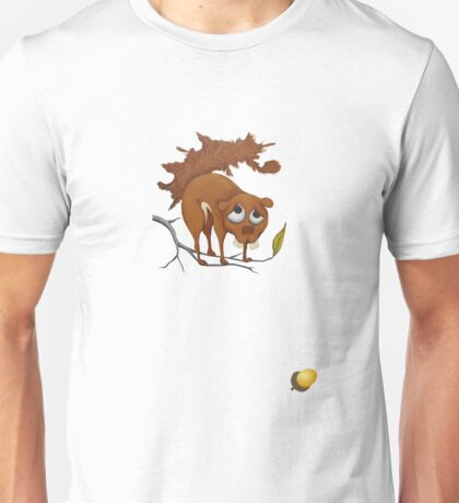 Pitiful Squirrel (cut out with acorn) Unisex T-Shirt