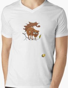 Pitiful Squirrel (cut out with acorn) Mens V-Neck T-Shirt