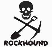 Rockhound Skull Crossed Pick & Shovel by SportsT-Shirts