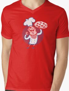 Pizza Chef Mens V-Neck T-Shirt