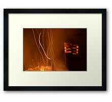 Dancing Fire Collection Framed Print